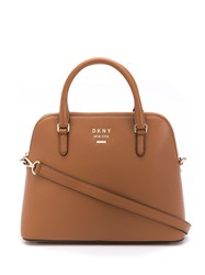 Dkny Large Whitney Dome Bag Brown