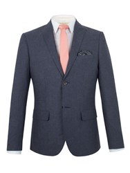 Racing Green Franco Semi Plain Blazer Navy