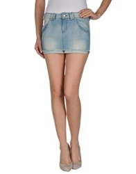 Jcolor Denim Skirts Blue