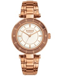 Versus By Versace Women's Rose Gold Tone Ion Plated Stainless Steel Bracelet Watch 34Mm Sp8210015 No Color