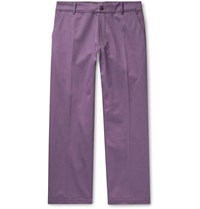 Noon Goons Slim Fit Cotton Twill Trousers Purple