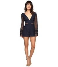 Keepsake All Night Playsuit Navy Women's Jumpsuit And Rompers One Piece