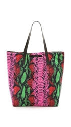 House Of Holland Reversible Tote Amaze Tote Pink Snake Yellow Viper