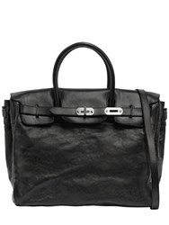 Numero 10 Leather Bag W Vintage Effect Black