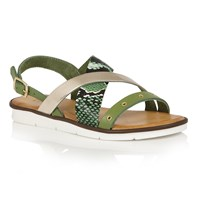 Lotus Anidori Flat Sandals Green