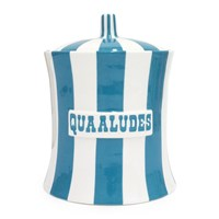 Jonathan Adler Vice Canister Quaaludes Teal White