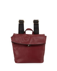 Neiman Marcus Misto Fold Over Backpack Wine