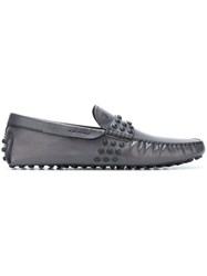 Tod's Studded Boat Shoes Blue