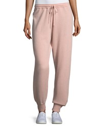 Theory Cashmere Athletic Stripe Lounge Pants Pink