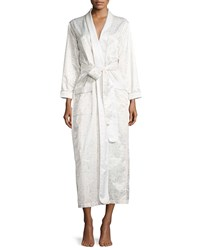 Louis At Home Fawn Print Long Wrap Robe White Fawn Women's