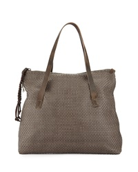 Lady Amazone Medium Woven Fold Over Tote Bag Henry Beguelin