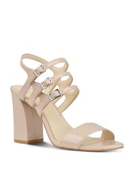 Nine West Hadil Patent Leather Dress Sandals Natural