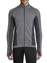 Hpe Cross Z Seamless Full Zip Top Grey
