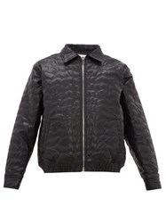 Noon Goons Blossom Embroidered Faux Leather Jacket Black