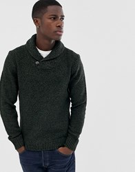 Pier One Wool Blend Jumper In Green With Chunky Collar
