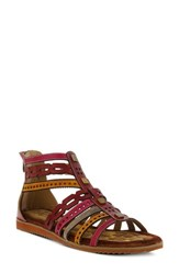 L'artiste Anjula Sandal Bordeaux Leather
