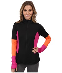 Spanx Active Mod Bod Jacket Black Pink Pow Women's Jacket