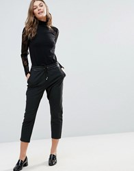 Only Poppy Pu Ankle Trouser Black Grey