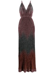 M Missoni Metallic Knitted Long Dress Pink