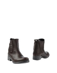 Luca Valentini Ankle Boots Dark Brown