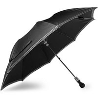 Alexander Mcqueen Skull Handle Twill Umbrella Black