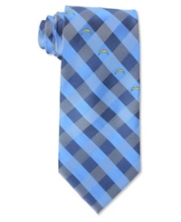 Eagles Wings San Diego Chargers Checked Tie