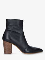 Carvela Sculpture Leather Pointed Toe Ankle Boots Black