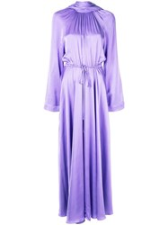 Solace London Akan High Neck Maxi Dress Purple