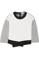 10 Crosby By Derek Lam Asymmetric Crepe Sweatshirt Gray