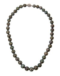 Belpearl 14K Tahitian Black Pearl Necklace