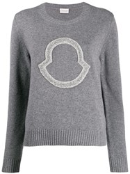 Moncler Sequin Logo Embroidered Jumper 60