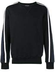 Alexander Mcqueen Side Stripe Sweatshirt Black