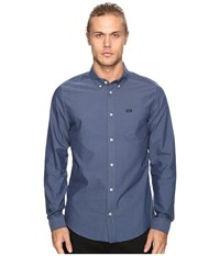 Rvca That'll Do Oxford Long Sleeve Blue Slate Men's Long Sleeve Button Up