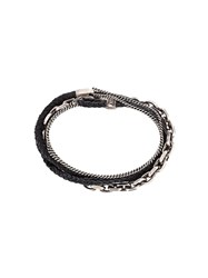 Title Of Work Seven Multi Wrap Bracelet Black