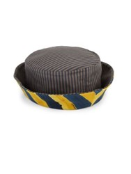 Fendi Reversible Striped Cotton Canvas Bucket Hat Blue