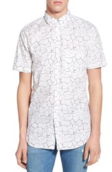 Men's Zanerobe 'Seven Ft Solar' Longline Short Sleeve Print Woven Shirt
