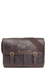 Men's Jack Mason Brand 'Gridiron Baylor Bears' Leather Messenger Bag