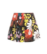 Marni Printed Denim Miniskirt Multicoloured