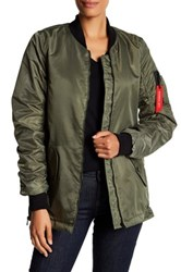 Steve Madden Straight Bottom Bomber Green