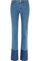 Valentino Two Tone Mid Rise Flared Jeans