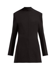 Jil Sander Gehry Stretch Twill Blazer Dress Black