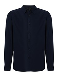 Army And Navy Beacon Plain Long Sleeve Shirt Navy