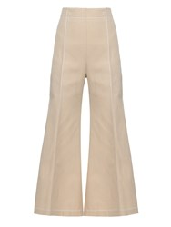 Acne Studios Olexa Twill Cotton Cropped Trousers