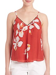 Alice Olivia Carlene Inverted Pleat Tank Top Summer Lilly