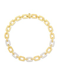 Pois Moi 5 Diamond Square Link Necklace Yellow Gold Roberto Coin Red