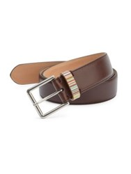 Paul Smith Zamac Buckled Leather Belt Brown