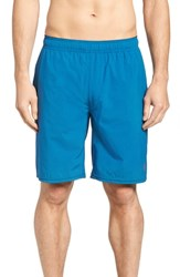 Travis Mathew The Pace Performance Shorts Heather French Blue