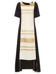 Zeus Dione Sifnos Step Hem Silk Crepe Dress