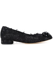 Simone Rocha Square Toe Ballerinas Black