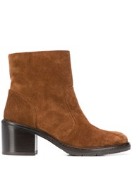 Chie Mihara Odina Heeled Ankle Boots Brown